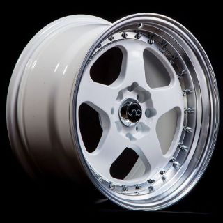 Buy JDM JNC010 WHEELS 17X8 4X100/4x114.3 +30 OFFSET WHITE SET OF 4 RIMS motorcycle in Los Angeles, California, United States, for US $475.00
