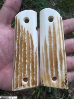 For Sale: New Colt 1911 Full Size Elk Horn Stag Grips can ship