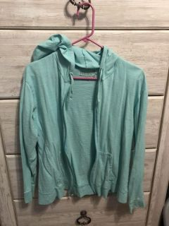 Large hooded zip up