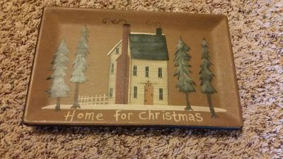 Home for Christmas Plate Decor - Great Condition
