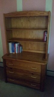 This End Up Dresser and Shelf