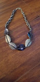 Brown, Gold leaves necklace. **Porch Pickup **
