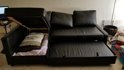 IKEA Leather Couch bed