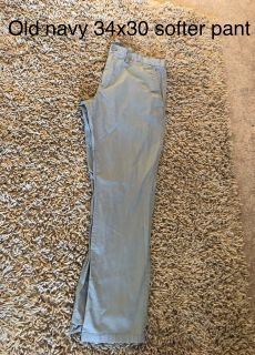 Men s softer old navy khaki pant size 34x30