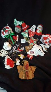 Assorted vintage Christmas ornaments