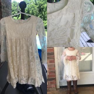 Sweet ivory, lace toddler dress