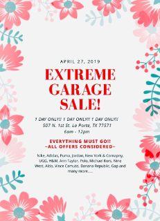 ***Extreme Garage Sale