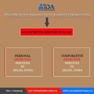 Best Private Detective Agency in Delhi | Top Indian Detective Agency