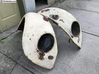 Early front fenders Beetle 58-60