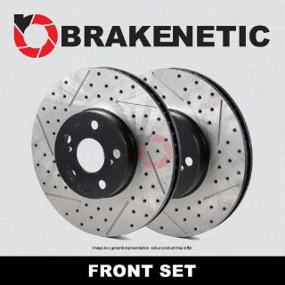 Buy [FRONT SET] BRAKENETIC PREMIUM Drilled Slotted Brake Disc Rotors BNP67070.DS motorcycle in Long Beach, California, United States, for US $399.70