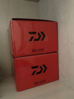 2 new Daiwa BG SW 6500 spinning reels.