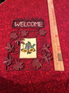 NWOT Welcome metal sign 7x12