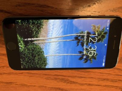 iPhone 6, 64GB, with cases and accessories