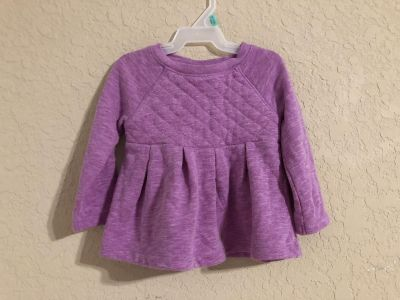 Cat & Jack Purple Long Sleeve Shirt. Nice Condition. Size 12 Months