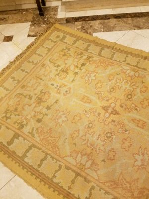 Crate and Barrel 6x9 Indian Cotton Area Rug