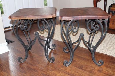 Two side tables, PPU