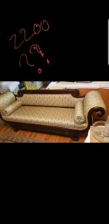 Vintage hand carved couch Victorian style