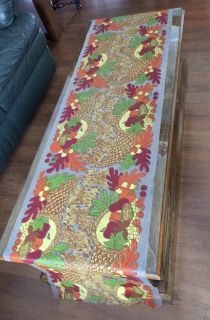 Thanksgiving Plastic Table Cloth Runner