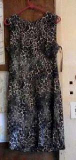 Calvin Klein Women's Sleeveless Animal Printed Dress Brand New Never Worn ( Size