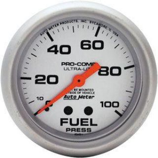 Purchase AutoMeter 4412 Ultra-Lite Fuel Pressure Gauge 0-100 motorcycle in Suitland, Maryland, US, for US $68.83