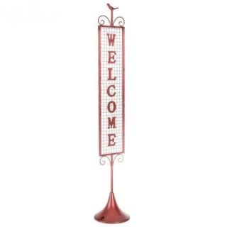 NEW! RED STAND UP WELCOME SIGN