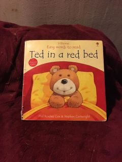 Usborne Easy Words To Read - Ted In A Red Bed
