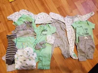 Lot of newborn Carter's dinosaur collection