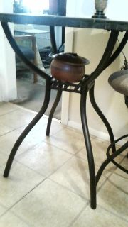 Slate table with chair