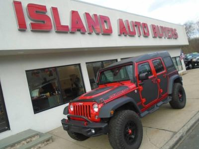 2016 Jeep Wrangler Unlimited Rubicon Hard Rock 4x4 4dr SUV (Red)