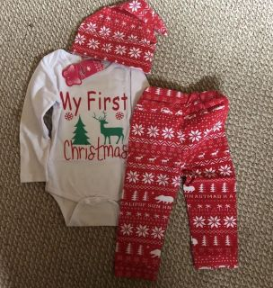 My First Christmas outfit ***brand New with tags****