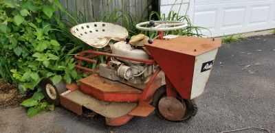 1950's Ride King lawn mower