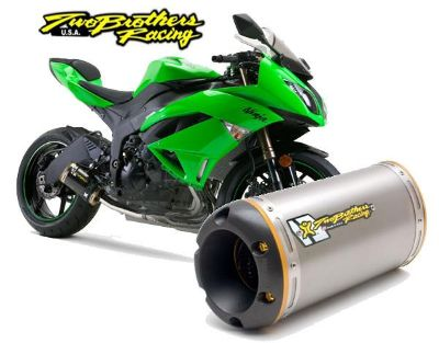 Find Two Brothers V.A.L.E. Full Exhaust M-2 Titanium Can 2009-2013 Kawasaki ZX-6R motorcycle in Ashton, Illinois, US, for US $919.96