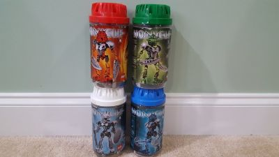 2002 Lego Bionicle ORIGINAL TOA NUVA - Set of 4 out of 6 - 66% Complete (8567 8570 8571 8572) -