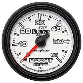 Buy Autometer Phantom II Boost Gauge 2-1/16 mechanical 60 psi 2-1/16 Mechanical 7505 motorcycle in Winchester, KY, US, for US $72.07