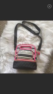 NWT Betsey Johnson Black Pink Insulated Lunch Tote