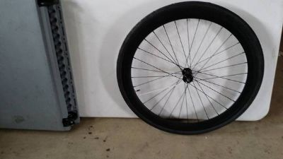 Front 50mm purefix wheel with tube and tire