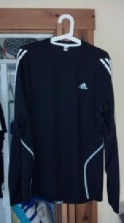 Adidas Formotion Reflective Black Long Sleeve T Shirt Running Medium M