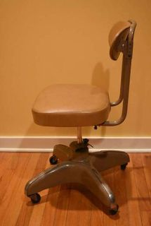Vintage 1960s Cosco Industrial Rolling Office Chair