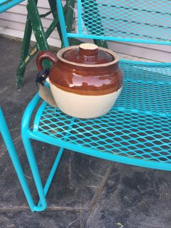 Old Bean Pot. Cute for plants or treats