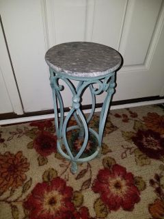 Round / Iron Marble Plant Deco Stand