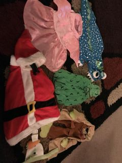 Dog costumes most Sz small 1 or 2 medium. Not separating