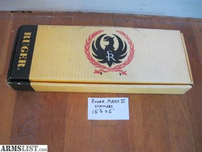 For Sale: Ruger MKII Factory SS box