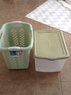 Rubbermaid container and laundry basket