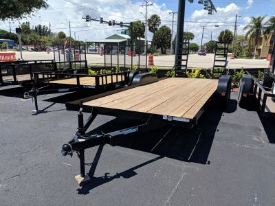 2019 Triple Crown 7X20 Equipment Trailer Swing Up Ramps Utility Trailers Fort Pierce, FL