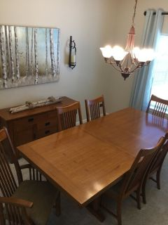 Timeless dining room table and buffet