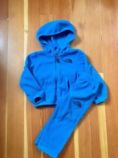 North Face zip up and pants