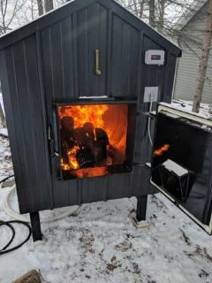 $3,400, Outdoor wood stove for sale, water boiler design, brand new.