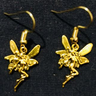 Gold Plated Fairy Earrings