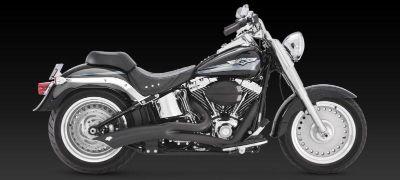 Purchase Vance & Hines Big Radius 2-into-1 Exhaust Black 86-11 Harley Davidson Softail motorcycle in Ashton, Illinois, US, for US $742.46