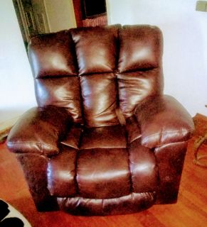 Macy's large leather recliner.